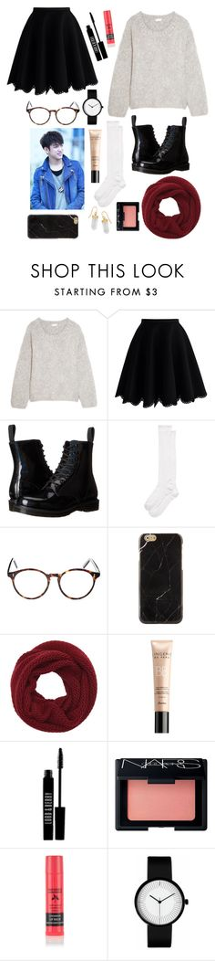 """Walk in the Park; Jinyoung"" by got7-bangtan-style ❤ liked on Polyvore featuring Chloé, Chicwish, Dr. Martens, Kate Spade, Cutler and Gross, Wyatt, Guerlain, Lord & Berry, NARS Cosmetics and BillyTheTree"