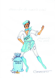 """Moulin Bleu"" (F) Rapsodie in Blau    Müller"