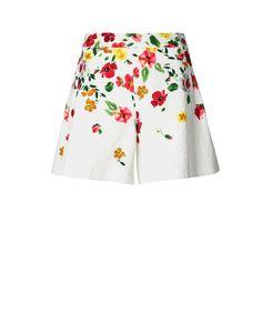 Oscar de la Renta Floral Wide Leg Short, $750; marissacollections.com     - ELLE.com