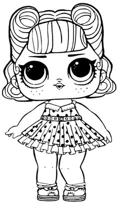 LOL Surprise Doll Coloring Pages Jitterbug - Free Printable Coloring Pages Unicorn Coloring Pages, Cute Coloring Pages, Coloring Pages For Girls, Mandala Coloring Pages, Coloring Pages To Print, Free Printable Coloring Pages, Coloring For Kids, Free Coloring, Coloring Books