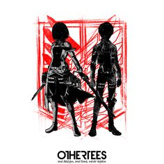 """""""Our only hope"""" by fanfreak T-shirts on sale until 13th September at Othertees.com Pin it for a chance at a FREE TEE! #attackontitan #manga #anime #ShingeknoKyojin #othertees"""