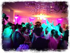 Dance-floor lighting, ceiling stars gobos and full room uplighting made this wedding reception one to remember!