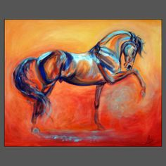 HORSE ART by Amy Goodman, sculptor & portrait artist, www.amygoodman.co.uk.  Bold use of colour reminds me of Franz Marc.
