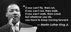 Keep moving at all costs.  #quotes