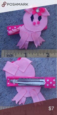 Lil piggy handmade boutique hair clip Brand-new handmade boutique hair clip Accessories Hair Accessories