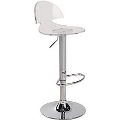 @Overstock - The contemporary look and sleek design of this Venti clear acrylic bar stool gives any kitchen or home bar the perfect finishing touch.http://www.overstock.com/Home-Garden/Venti-Clear-Acrylic-Bar-Stool/4835257/product.html?CID=214117 $92.31