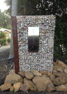 Gabion letterbox idea