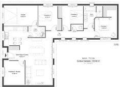 5 p. U Shaped House Plans, U Shaped Houses, Casa Loft, Modern Villa Design, House Construction Plan, House Blueprints, House Layouts, Future House, Planer