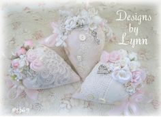 Pink & Sweet Lavender Filled Sachets 69 - Strawberry Delights- Designs By Lynn-pink, roses, shabby, chic, ruffles, Victorian, Vintage, Lynn,PINK,Lady,Strawberr, Sachets, Scent,