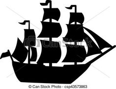 Vector - Pirate ship - stock illustration, royalty free illustrations, stock clip art icon, stock clipart icons, logo, line art, EPS picture, pictures, graphic, graphics, drawing, drawings, vector image, artwork, EPS vector art