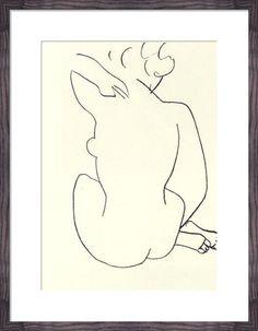 Naked, 1949 (Silkscreen print) Silkscreen Print by Henri Matisse at King & McGaw