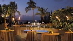 Perfect space for pre-event cocktails and socializing. Ritz Carlton Kapalua Maui