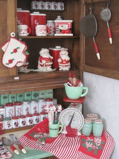 Hoosier Cabinet goodness...love this, especially the Jadeite!