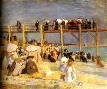 The Beach of Sainte-Adresse - Raoul Dufy
