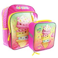 "Num Noms Smell So Delicious 16/"" inches Girls Large Backpack Licensed"