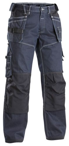 Blaklader Craftsmen Work Trousers with Kneepad Pockets (Denim Work Trousers Mens, Workwear Trousers, Work Jeans, Men's Jeans, Fashion Pants, Diy Fashion, Mens Fashion, Snickers Workwear, Outfit Man