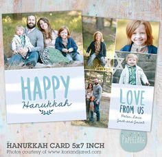 Happy Hanukkah Card Template AC052   Paper Lark Designs