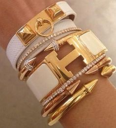 Beautifully stacked, white gold bling ♥✤ | Keep the Glamour | BeStayBeautiful