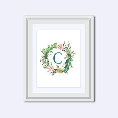 Monogram posters are a lovely addition to any nursery, home, or office and the imagery of flowering cacti results in a print with a twist. Ideal for southwestern style homes or offices that require a touch of nature, this piece of monogram art is striking in its simplicity. This monogram printable is also popular as a wedding printable and can make a lovey addition to any receiving table. Change out the wall art in your home. An affordable way to decorate your walls.  All you have to do is…