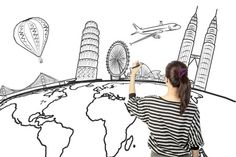 Asian Woman Drawing Or Writing Dream Travel Around The World Stock Photo - Image of education, country: 29804308 Dry Erase Paint, Travel Around The World, Around The Worlds, Slideshow Presentation, Elearning Industry, Goals And Objectives, Woman Drawing, Travel Scrapbook, Health And Wellbeing