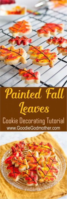 Painted Fall Leaves