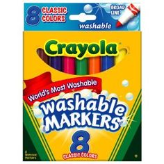 I actually suggest skipping the fabric pens/pencils, I don't care for them, they are pricey don't always do what they say & dry out easily. I LOVE Crayola WASHABLE Markers  because I KNOW they will wash out with a little cold water.  Warning not all Crayola markers are washable, so read the package!!!