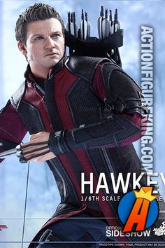 This sixth-scale Haweye figure comes with a bow, arrows, and quiver. Visit ActionFigureKing.com for full details and availability. #hawkeye #jeremeyrenner #avengers #actionfigure