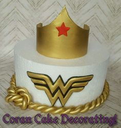 Edible Fondant Wonder Woman Crown, Logo + Rope, any size to fit cake, gold! in Home & Garden, Kitchen, Dining, Bar, Baking Accs. & Cake Decorating | eBay!