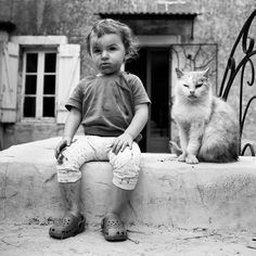 Alain Laboile - Baby and cat