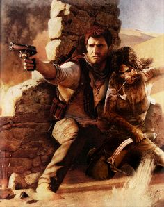 Nathan Drake et Lara Croft , plutôt un beau duo je trouve :) Nathan Drake, Fanfiction, Uncharted Series, Tomb Raider Lara Croft, Video Game Art, Video Games, Indiana Jones, Game Character, Best Games