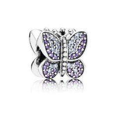 Buy PANDORA Silver & Zirconia Purple Pave Sparkling Butterfly Charm at Hugh Rice Jewellers. Free delivery on Pandora. Charms Pandora, Pandora Beads, Pandora Bracelets, Pandora Jewelry, Charm Bracelets, Pandora Accessories, Pandora Uk, Cheap Pandora, Pandora Gold