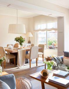 Um apartamento simples e bem decorado em Barcelona. Fotografia: Pepa Orom / El Mueble.