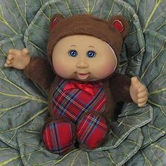 Cabbage Patch Cuties Christmas Bear With Tags for sale online Cabbage Patch Kids Dolls, Holidays With Kids, Doll Accessories, Future Baby, Childhood Memories, Plush, Teddy Bear, Toys, Cabbages