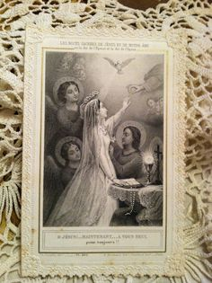 French prayer card  Love old religious artifacts............