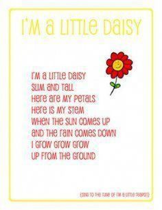 preschool song daisy - have students create melody, focusing on melodic interpretation of lyrics (grow, grow, grow. Spring Songs For Preschool, Preschool Music, Preschool Activities, Spring Songs For Kids, Jungle Activities, April Preschool, Preschool Weather, Kindergarten Science, Songs About Flowers