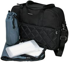 OiOi:Diamond Quilt Carry All Blk/Gunmetal Diaper Bag Changing Bag, Wet Bag, Carry All Bag, Diamond Quilt, Black Quilt, Online Bags, Luggage Bags, Baby Kids, Baby Boy