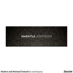 Elegant pink black damask personalized boutique business cards http modern and minimal damask mini business card reheart Choice Image