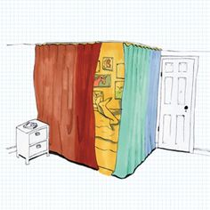 Says this is a good idea for splitting up a joint room, but I think any kid would love this regardless of whether or not the room is shared!