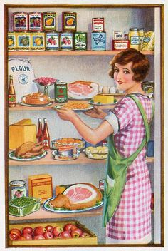 The Empire's Larder is part of Vintage housewife - vintage postcard stock up! Vintage Abbildungen, Photo Vintage, Vintage Ephemera, Vintage Cards, Vintage Postcards, Vintage Prints, Vintage Apron, Vintage Labels, Vintage Style