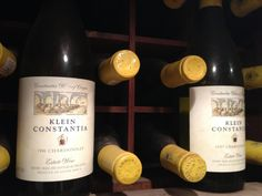 Inside the wine library at Klein Constantia where the delicious Chardonnay wines are ageing gracefully.