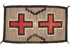 Antique Navajo Rug, 2'3