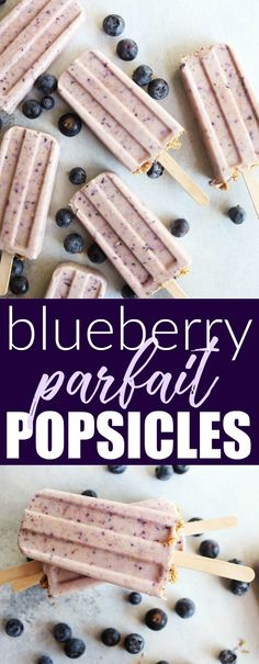 Delicious and refreshing Blueberry Parfait Popsicles that are only a handful of healthy ingredients and are guaranteed to bring the smiles.