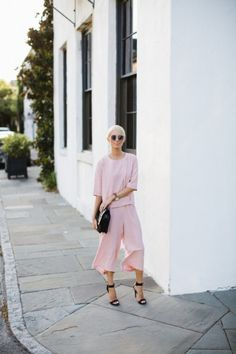Head-to-toe pink doesn't have to be sickeningly sweet as seen on Riches For Rags.