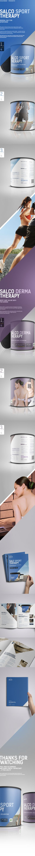 Salco Sport & Derma Therapy on Behance Web Design, Print Design, Graphic Design, Drug Packaging, Sports Therapy, Web Layout, Packaging Design Inspiration, Editorial Design, Branding Design