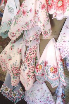 Vintage handkerchiefs   history
