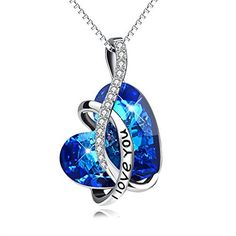 """Sterling Silver """"I Love You"""" Heart Pendant Necklace with Crystal for Women AOBOCO, http://www.amazon.com/dp/B06Y4LPYY8/ref=cm_sw_r_pi_dp_x_YccHzbJ99SENB"""
