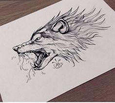 Wolf Tattoo Forearm, Wolf Tattoo Sleeve, Wolf Tattoos, Body Art Tattoos, Art Wolfe, Simpsons Drawings, Wolf Artwork, Painting Tattoo, Arte Horror