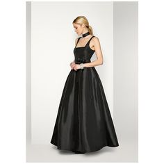 Black The Cassieopia Dress ($269) ❤ liked on Polyvore featuring dresses, gowns, black, prom gowns, formal prom dresses, formal evening gowns, formal bridesmaid dresses and taffeta dress