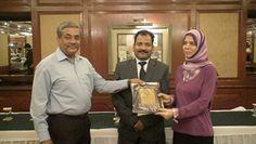 Dr. Huda Abbas Al-Sharae receiving certificate of Fellowship in minimal access Surgery at World Laparoscopy Hospital. For more detail please log on to www.laparoscopyhospital.com