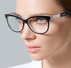 swarovski cat eye frames